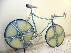 Beautiful, vintage, pristine 1980's time-trial ( TT ) bike by Giacinto Benotto. Italian industrial bicycle design at its finest, perhaps