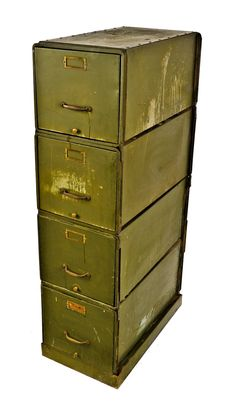 highly desirable c. 1930's depression era downtown chicago commercial office building modulated heavy gauge american industrial steel filing cabinet