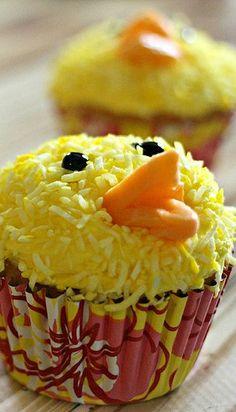 Lemon Coconut Chick Cupcakes