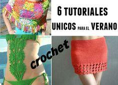 6 tutoriales de crochet para el verano con patrón