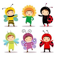 Cute kids wearing insect and flower costumes. Illustration of cute kids wearing , Cartoon Butterfly, Butterfly Clip Art, Butterfly Drawing, Costume Fleur, Flower Costume, Butterfly Costume, Baby Bug, Photo Images, Baby Sewing Projects