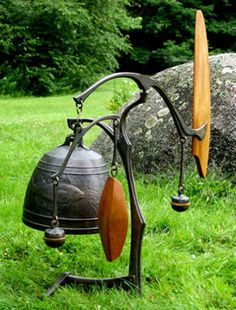 Dick Fisher Bell Sculptures - Wind Bell with fish motif, 2004