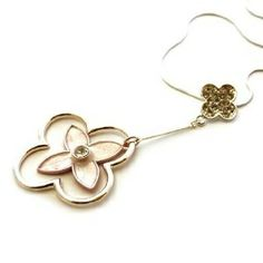 Avanni Pink Sheen Flower Emblem Fashion Necklace, Costume jewellery, Fashion jewellery - just in £9.99