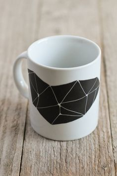 hand-painted geometric mug. €12,00, from Asleepfromday on Etsy.