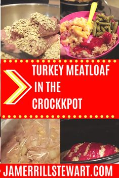 Turkey meatloaf in the crockpot is an easy recipe for those who want a lean meat but love meatloaf more than life. Serve wtih salad for a healthy meal. Slow Cooker Freezer Meals, Slow Cooker Chicken, Slow Cooker Recipes, Crockpot Recipes, Healthy Recipes, Country Ribs Recipe, Large Family Meals, Baking Basics, Turkey Meatloaf