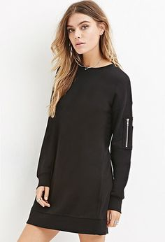 Longline French Terry Pullover   Forever 21 - 2000145957