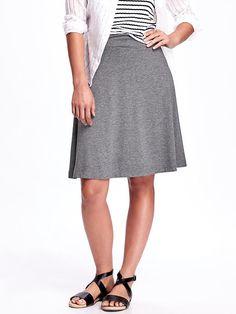 Knee-Length Jersey Circle Skirt