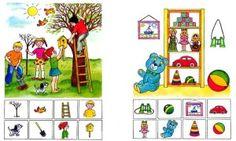 2 fichas más de atención Speech Activities, English Activities, Activities For Kids, Teaching Kindergarten, Preschool, Visual Perception Activities, Such Und Find, Bored Kids, Dora