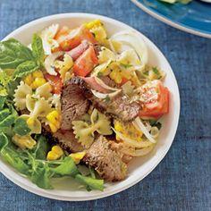 Grilled Steak  Pasta Salad