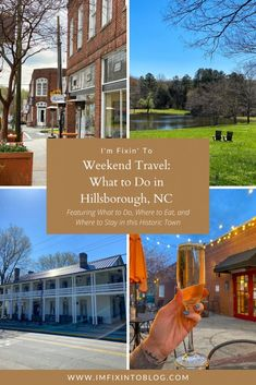 NC Blogger I'm Fixin' To shares a day trip guide to the quaint, Southern gem Hillsborough, NC including restaurants to try, shops to browse, and recreation.