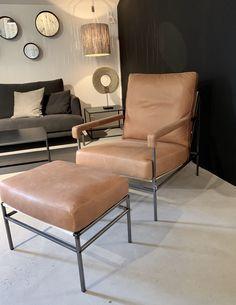 Ihreborn Seventy Chair Vintage Cognac skinn kr 15 870.- NÅ PÅ LAGER - Olen Mobel Recliner, Accent Chairs, Lounge, Furniture, Vintage, Design, Home Decor, Chair, Upholstered Chairs
