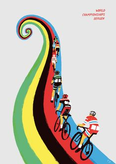 Rouleur - Bergen 2017 Poster Poster for the UCI World Championships in Norway 2017