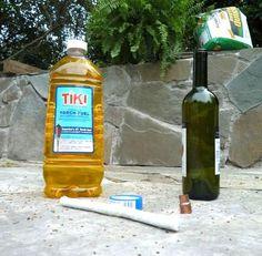Antorcha con una botella de vino 4