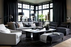 Searching For Home Decorating Tips? Living Room Decor Tips, Living Room Shelves, Living Room Designs, Masculine Living Rooms, Interior Architecture, Interior Design, Glass Cabinet Doors, Living Room Remodel, Outdoor Furniture Sets