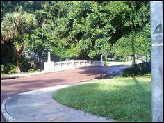 Old bridge in Lake Lawsona/Thornton Park neighborhood near downtown