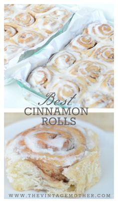 Best Cinnamon Rolls  www.thevintagemother.com