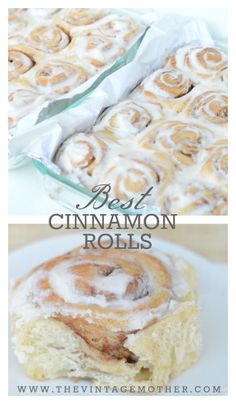 Best Cinnamon Rolls  www.thevintagemother.com