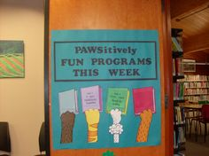 """There's a lot going on for Summer Reading Program 2014 """"Paws to Read!"""" at Irvine University Park Library."""