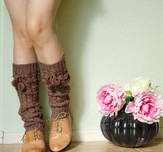 cute legwarmers my one true love. Boot Cuffs, Fall Winter Outfits, Leg Warmers, Fit Women, Fashion Outfits, Legs, Brown, How To Wear, Clothes