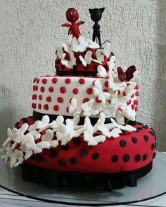 Resultado de imagem para bolo ladybug catnoir