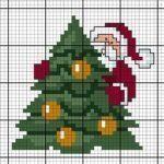 Diagramme gratuit DMC Sapin de Noël – Eleanor Greig - Let's Pin This Cross Stitch Christmas Cards, Xmas Cross Stitch, Cross Stitch Cards, Christmas Cross, Counted Cross Stitch Patterns, Cross Stitch Designs, Cross Stitching, Cross Stitch Embroidery, Christmas Stocking