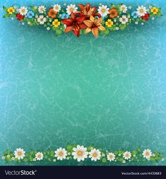 Abstract spring floral background with flowers on vector image on VectorStock Frame Border Design, Bubbles Wallpaper, Wedding Album Design, Classic Wallpaper, Invitation Background, Birthday Frames, Birthday Background, Flower Backgrounds, Flower Frame