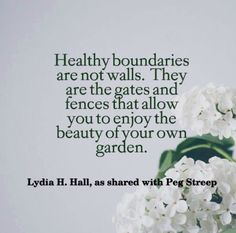 Healthy boundaries are not walls...