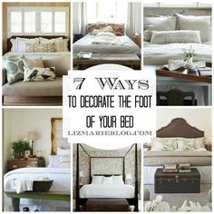 DIY:: 7 Ways to Decorate The Foot Of The Bed !