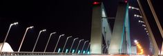 Sheikh Zayed Bridge-Better road light and visibility while consuming less energy with Philips LED lighting installation on the Sheikh Zayed Bridge, Abu Dhabi, UAE Led Light Installation, Abu Dhabi, Uae, Facade, Bridge, Lighting, Bridge Pattern, Facades, Bridges