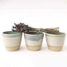 Stoneware coffee/tea tumblers, 200ml Ceramic Studio, Tumblers, Stoneware, Ceramics, Tea, Coffee, Ceramica, Kaffee, Pottery