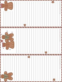 Gingerbread note cards