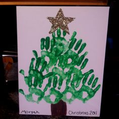 Super cute and easy Christmas craft I did with the kids