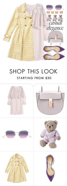 """""""Lady In Old London"""" by jiabao-krohn ❤ liked on Polyvore featuring Rebecca Taylor, Garrett Leight, Lexington, Burberry, Jimmy Choo, Maison Margiela and lacedress"""