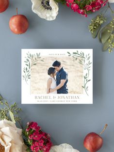 Fairytale Leaves Photo Wedding Save the Date Cards Rustic Wedding Save The Dates, Rustic Wedding Gowns, Unique Save The Dates, Luxury Wedding Invitations, Wedding Stationary, Save The Date Magnets, Save The Date Cards, Engagement Pictures, Engagement Ideas
