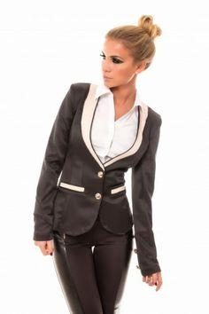 Sacou Lotus Negru- www.zonia.ro Atmosphere Fashion, Blazer, Suits, Lotus, Casual, Jackets, Collection, Women, Down Jackets