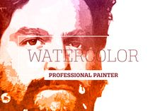 Watercolor Professional Painter by ozonostudio on Creative Market