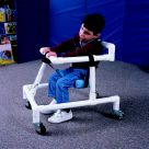 Abilitations Adjustable Small Adapt-A-Walker with Safety Locking Pins, PVC, White, for Use with 36 - 48 in Children
