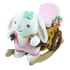 Rocking Horses 19024: Rockabye Kid S Beatrice Bunny Play And Rock Ride-On Rocker, Multi -> BUY IT NOW ONLY: $82.75 on eBay!