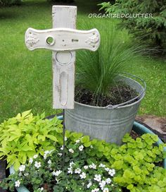Bless the Blooms - Shabby Crosses & An Old Barn Door