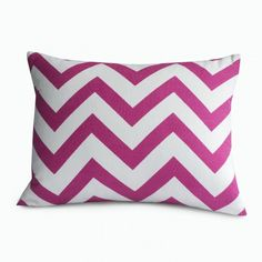 Pink chevron pillow novogratz