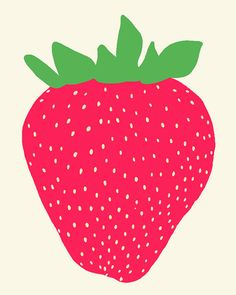 Fine Art Print.  Strawberry.  May 14 2012. by joreyhurley on Etsy, $35.00