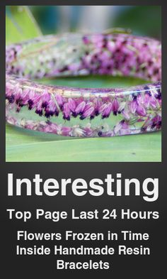 Top Interesting link on telezkope.com. With a score of 18110. --- Flowers Frozen in Time Inside Handmade Resin Bracelets. --- #interestingontelezkope --- Brought to you by telezkope.com - socially ranked goodness.