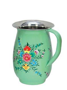 Scandinavian folk art pitcher
