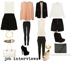 Outfits for job interviews