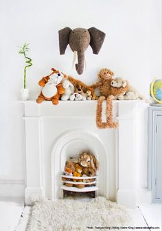 20 Whimsical Nurseries. Is it irrational to build a fake mantel in my future nursery to do a display like this?