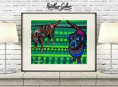 DIGITAL Print File - labrador Retriever Art dog Poster Print of painting by Heather Galler Black Chocolate Lab (HG562)
