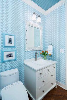 287 Best Wallpapered Bathroom Images Bathroom Bathroom Ideas
