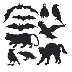 Halloween Silhouette Cutouts