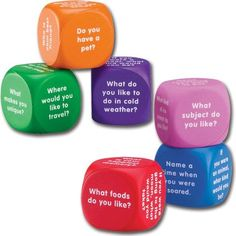 I like these. I recently ordered these through Amazon and started using them as my small group icebreaker. Students love them.