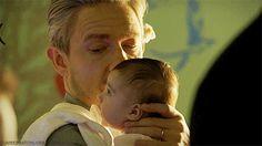 Dr. John Hamish Watson and Baby Rosamund Mary Watson.